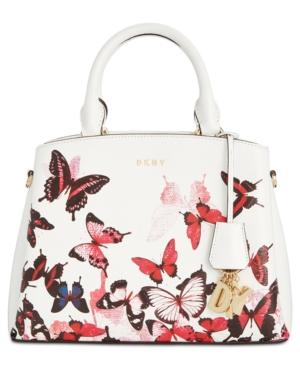 Dkny Paige Small Satchel, Created For Macy's In White Multi