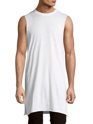 Drifter Solid Cotton Oversized Tee In White