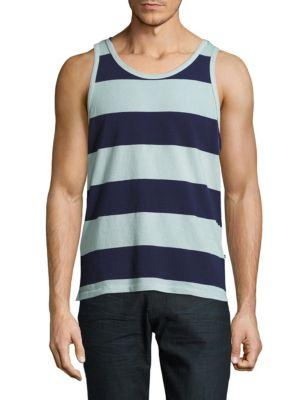Sol Angeles Striped Sleeveless Tee In Pool