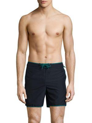 Original Penguin Everglade Swim Trunks In Dark Sapphire