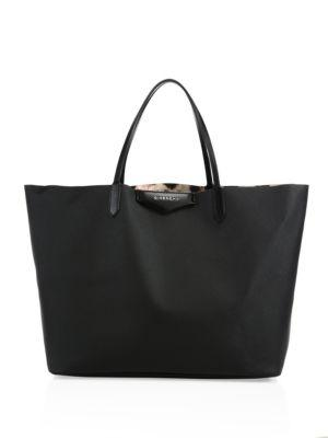 Givenchy Antigona Large Coated Canvas Tote In Black