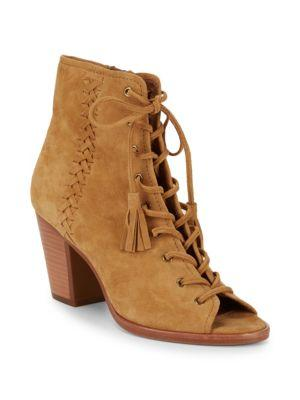 Frye Whipstitch Leather Booties In Camel