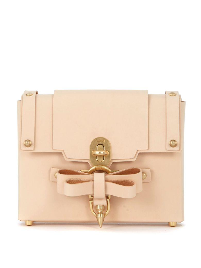 Niels Peeraer Bow Buckle Small Pink Leather Bag In Rosa