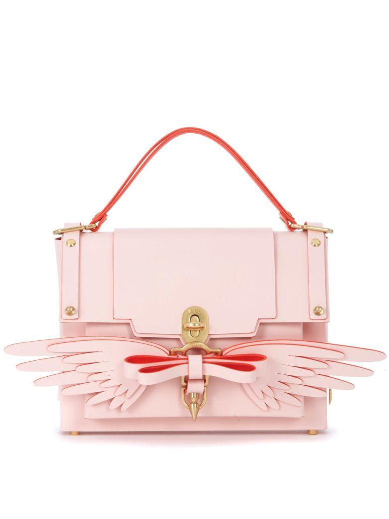 Niels Peeraer Wings Pink Leather Backpack In Rosa