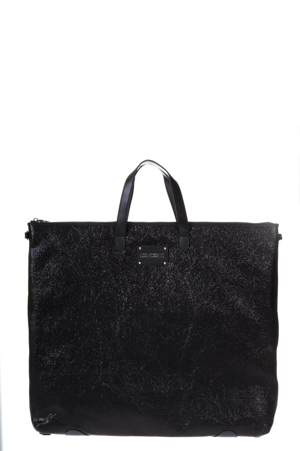 Love Moschino Black Reversible Eco Leather Bag