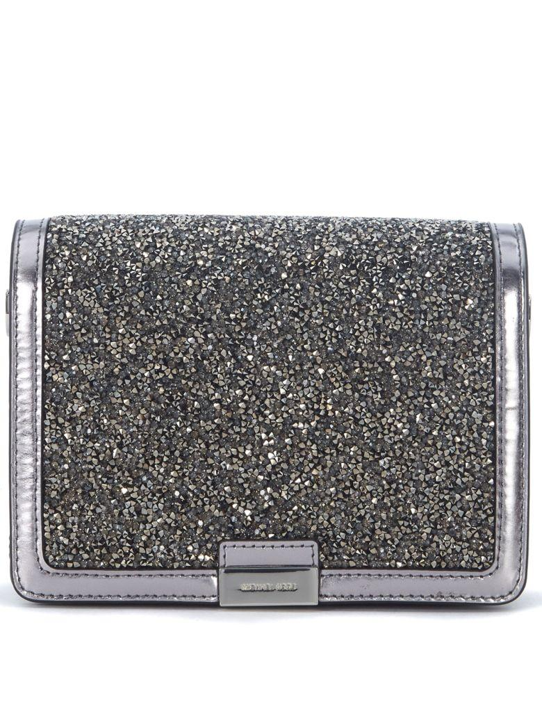 Michael Kors Pochette  Jade Pewter Leather With Micro Stones In Argento