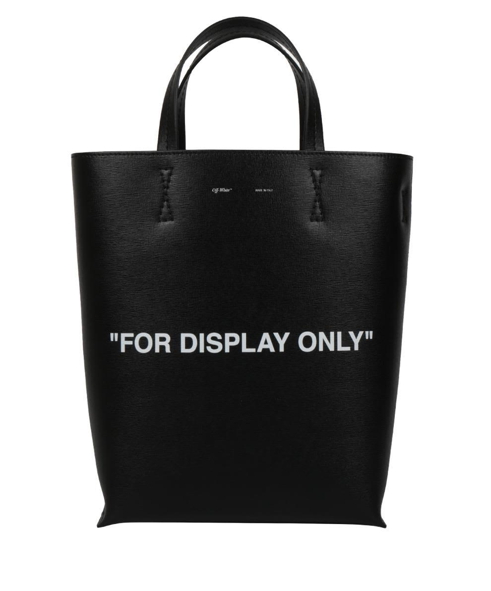 Off-white Virgil Was Here Leather Bag In Nero