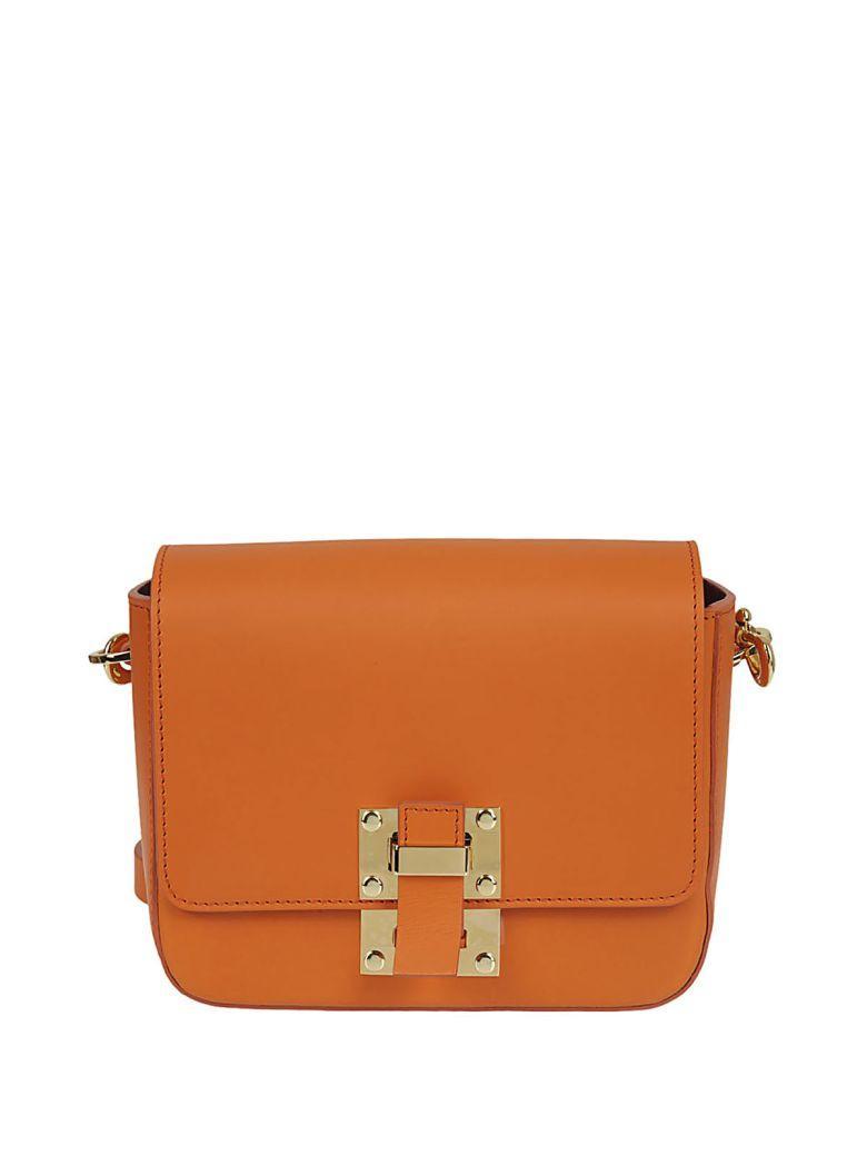 Sophie Hulme Small Quick Shoulder Bag In Orange