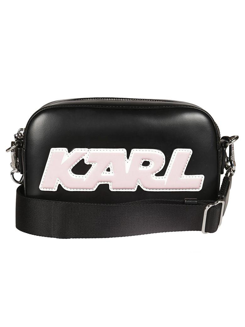 Karl Lagerfeld Sporty Camera Shoulder Bag In Black