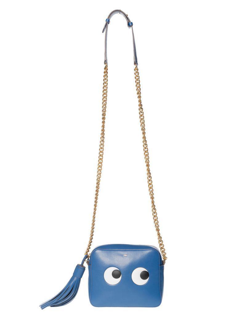 Anya Hindmarch Eye Shoulder Bag In Blueberrycircus