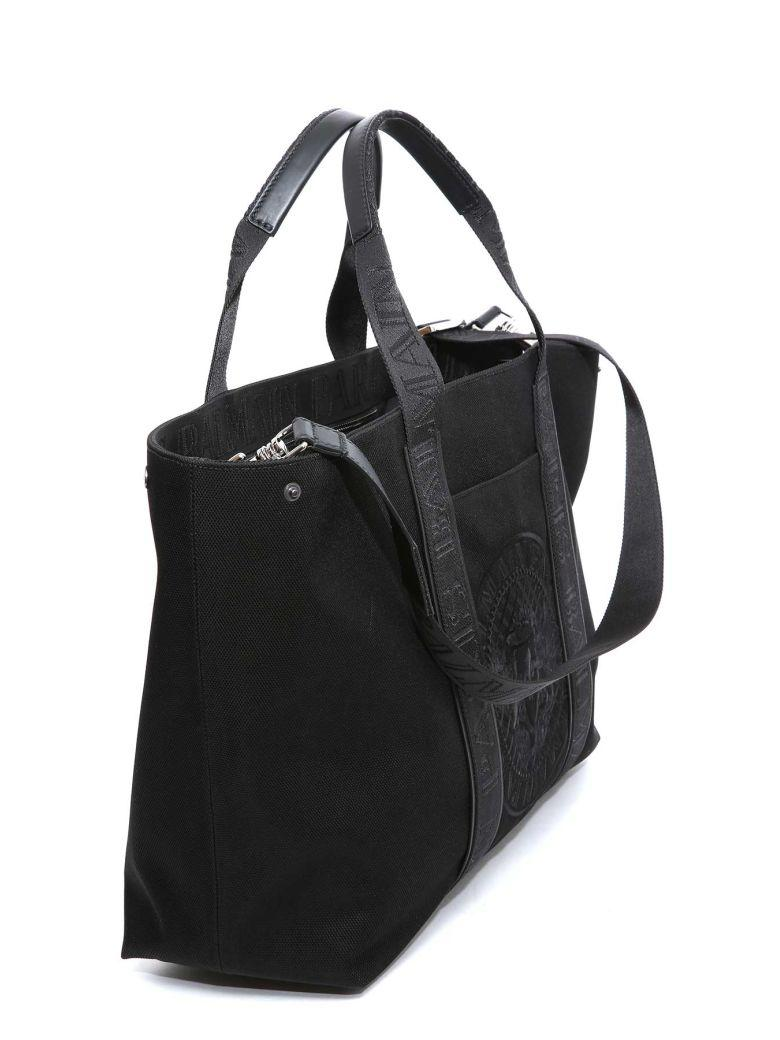 Balmain Printed Tote In Black
