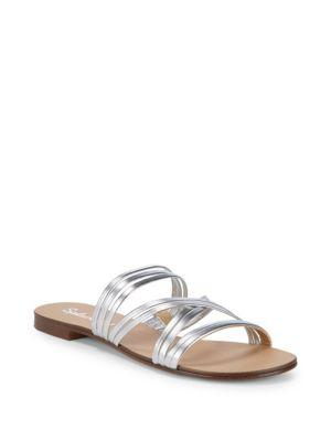 Splendid Bertha Multi-strap Slides In Silver