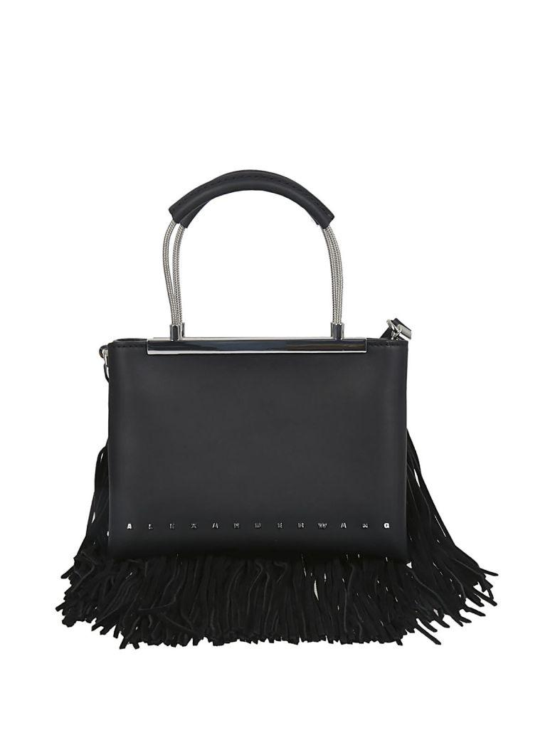 Alexander Wang Fringed Small Dime Tote In Black