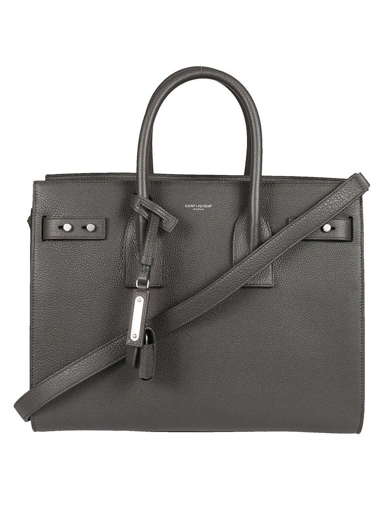 Saint Laurent Small Sac De Jour Souple Tote In Asfalto
