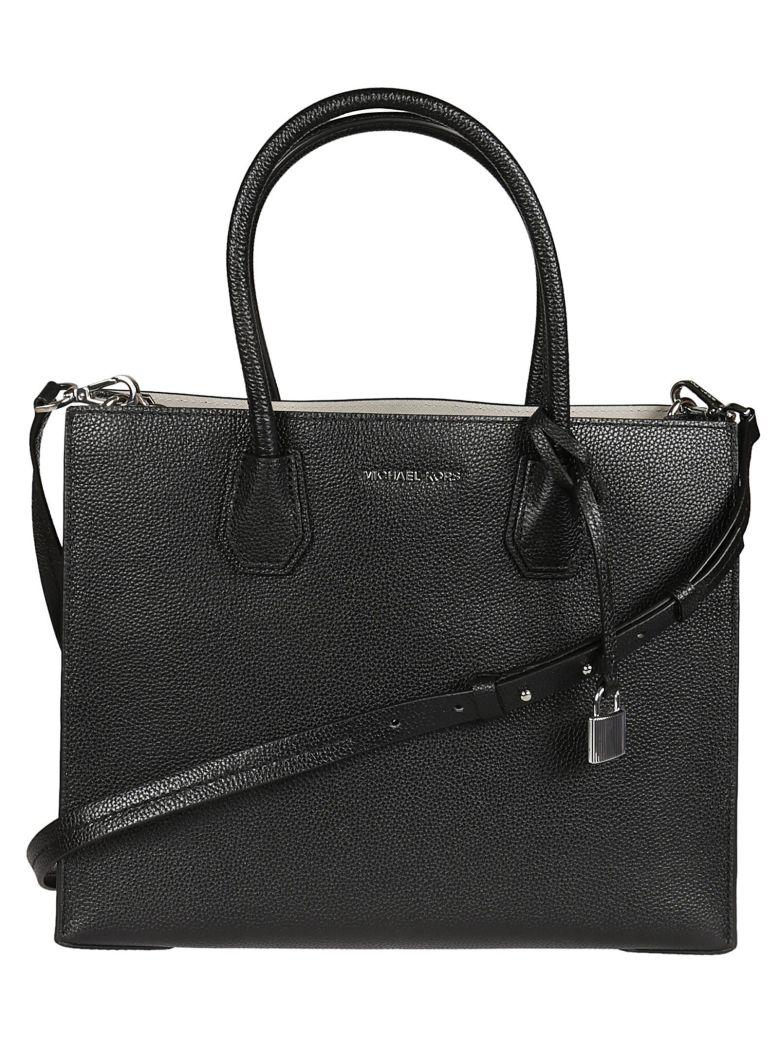 Michael Kors Leather Tote In Nero