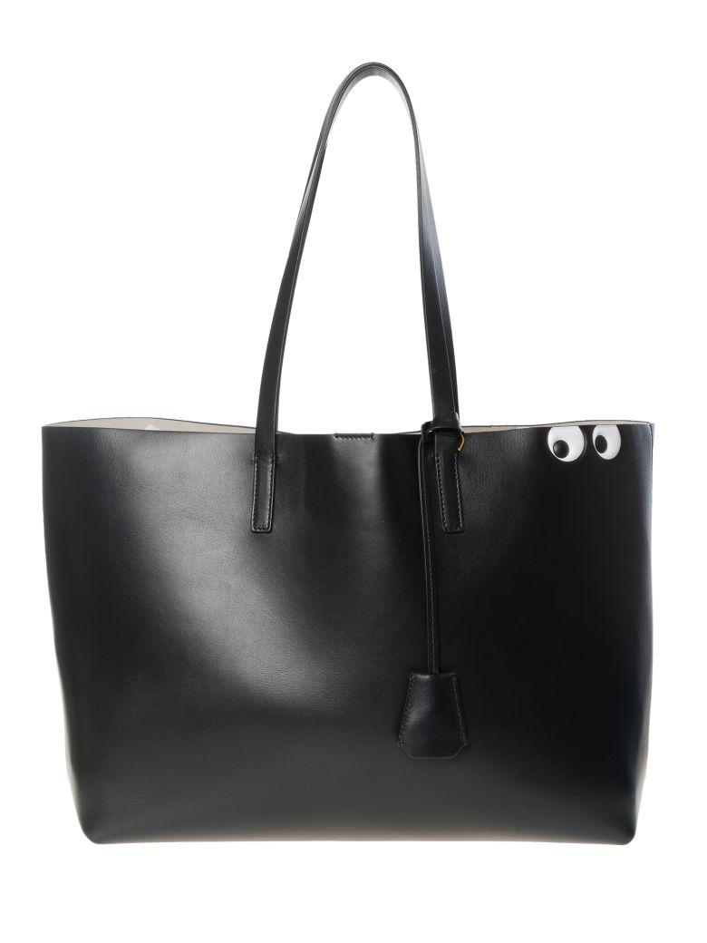 Anya Hindmarch Eye Shopper Bag In Blackcircus