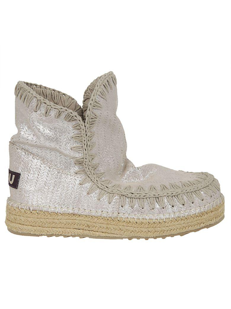 Mou Eskimo 18 Jute Perf Glitter Hi-top Sneakers In Metallic