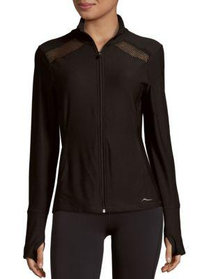 X By Gottex Long Sleeve Jacket In Black