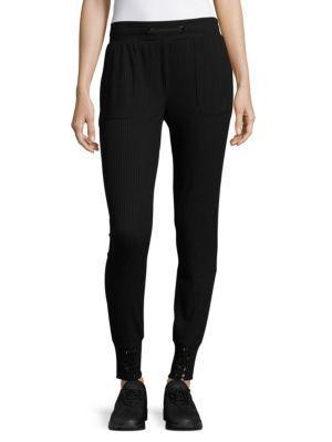 X By Gottex Rib Sweatpants In Black
