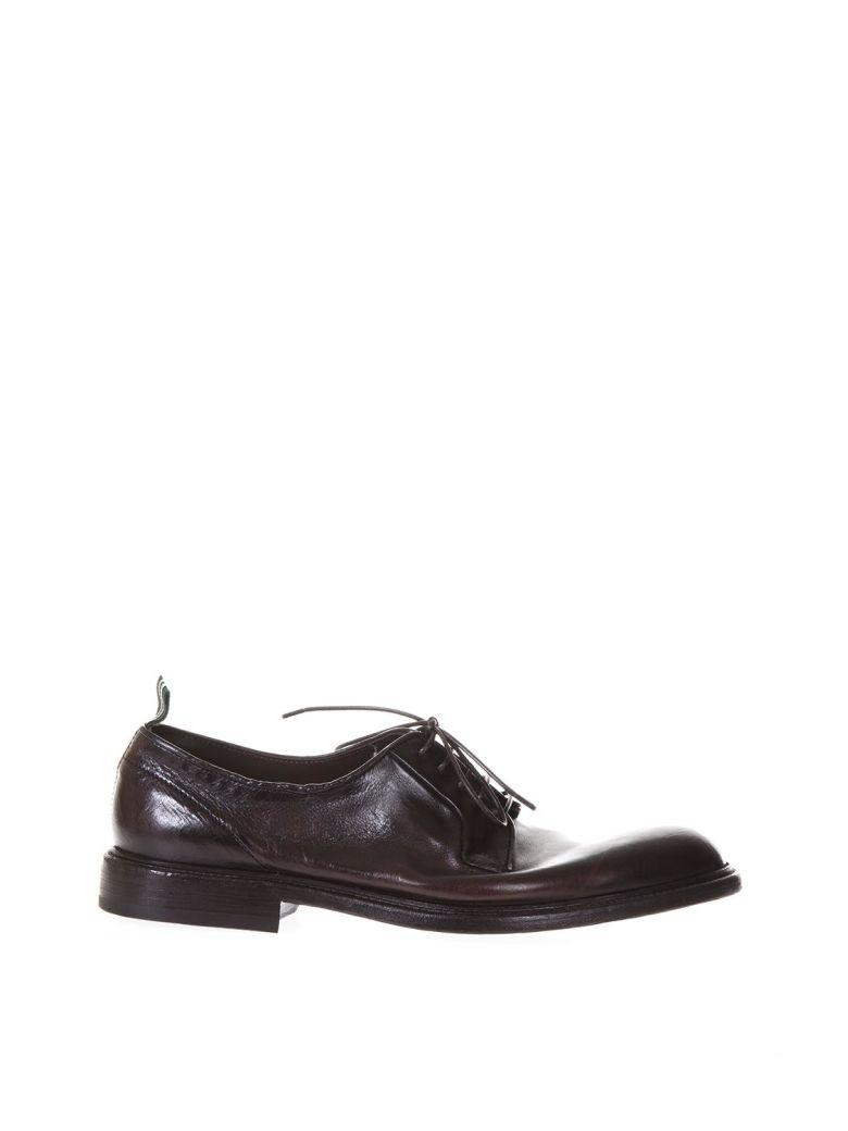Green George Brown Leather Derby Lace-up Shoes
