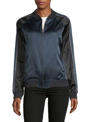 Opening Ceremony Take A Hike Silk Bomber Jacket In Black Multi