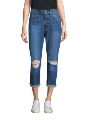 7 For All Mankind Josefina Ripped Boyfriend Jeans In Montreal