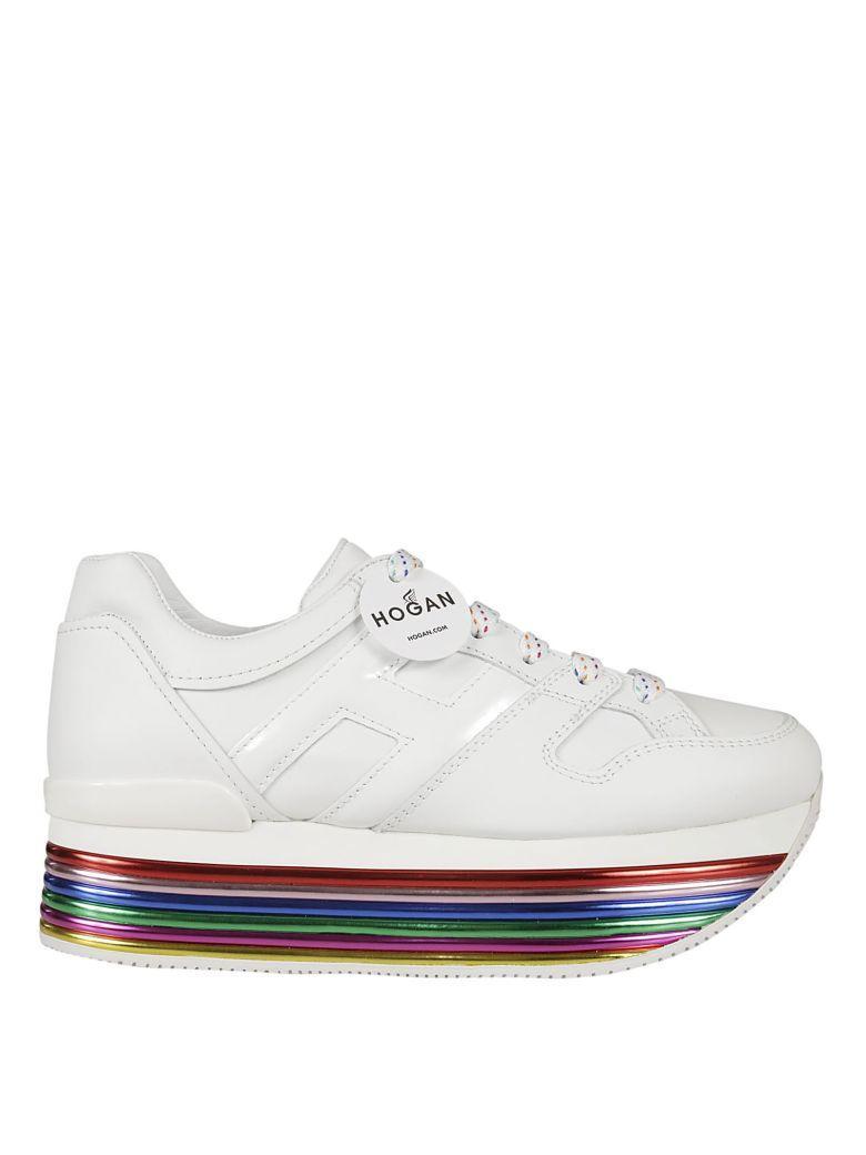 Hogan H352 Allacciato Maxi Platform Sneakers In Multicolor