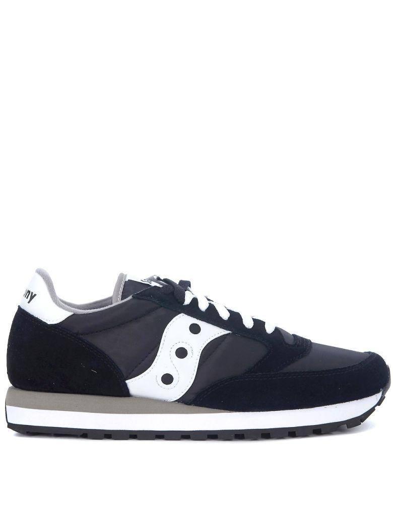 Saucony Jazz Black And White Leather And Nylon Sneakers In Nero