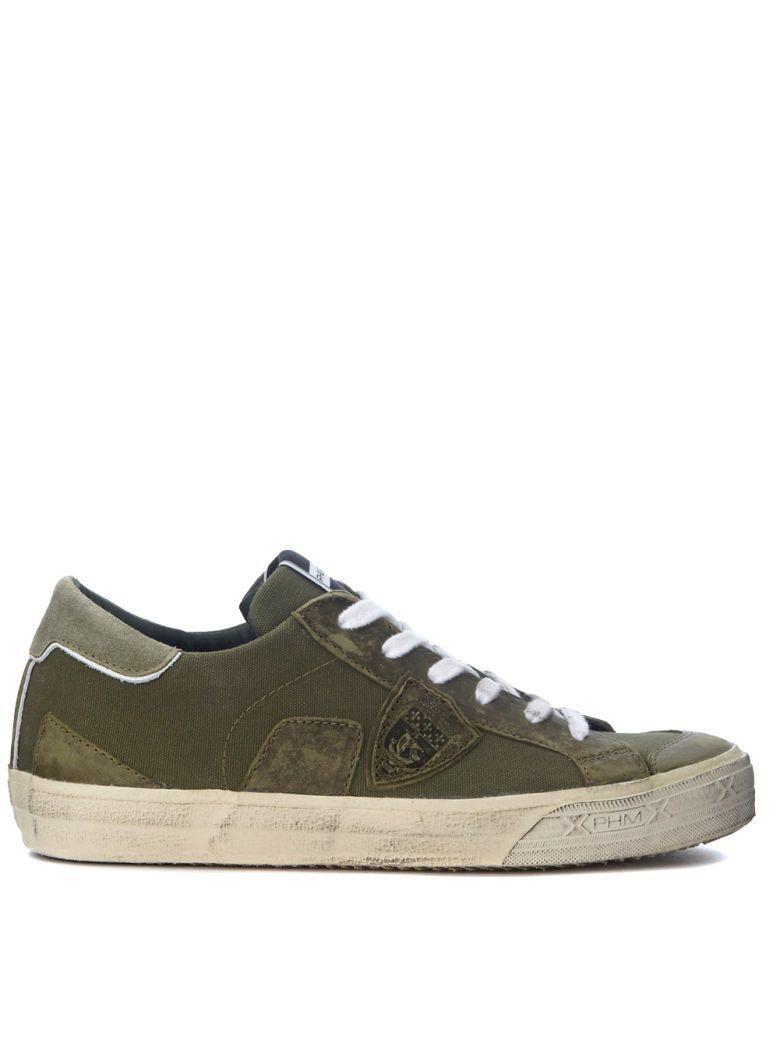 Philippe Model Bercy Hunter Green Canvas Sneaker In Verde