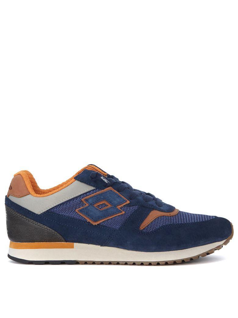 Lotto Leggenda Tokyo Ginza Blue Leather And Mesh Sneaker