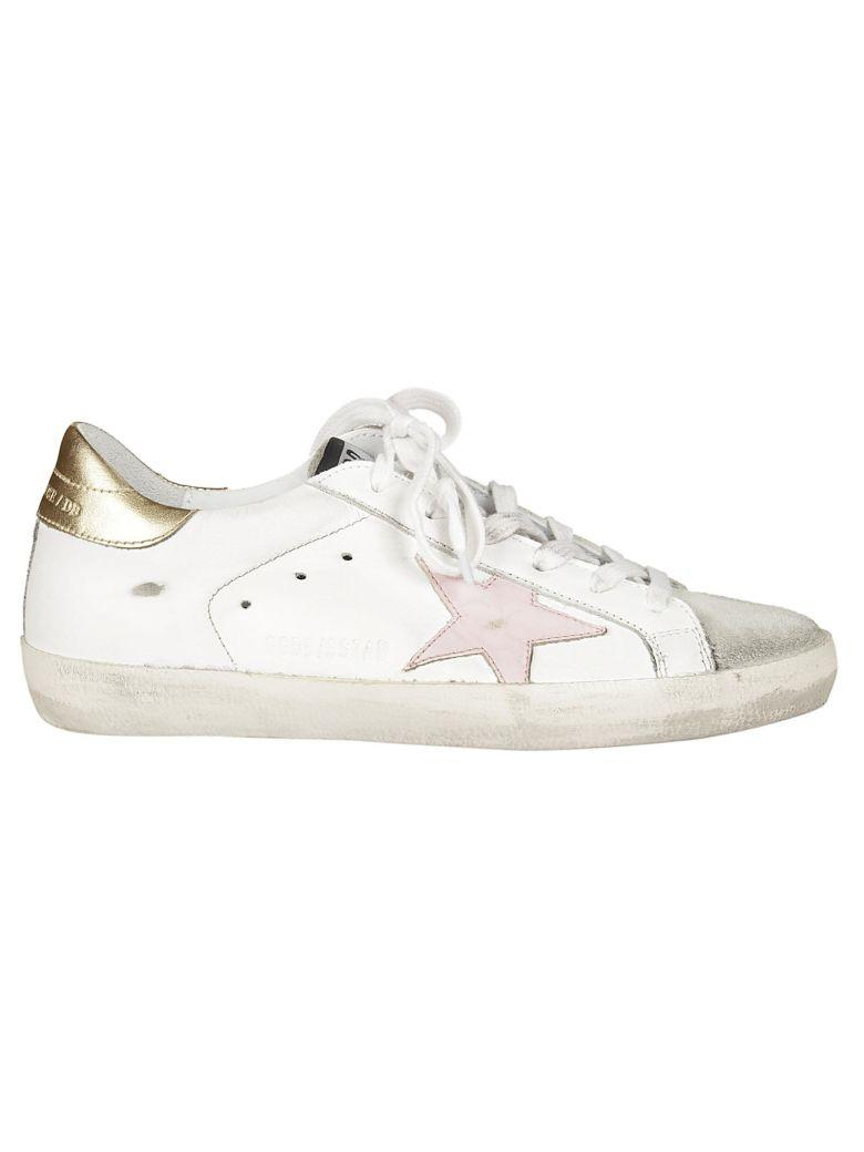 Golden Goose Superstar Sneakers In White-gold
