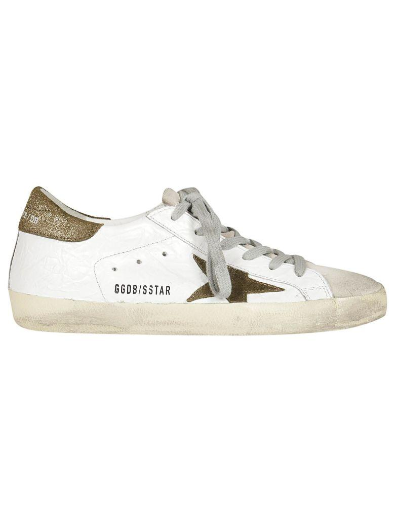 Golden Goose Superstar Sneakers In Wrinkled White