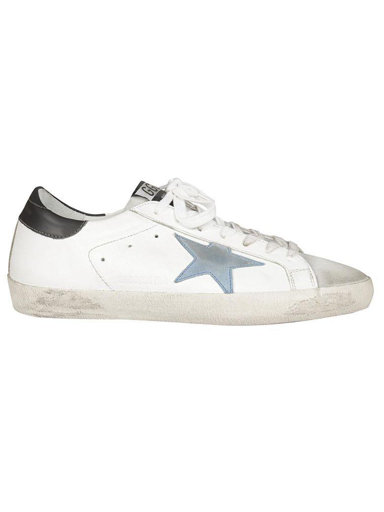 Golden Goose Superstar Sneakers In White-grey