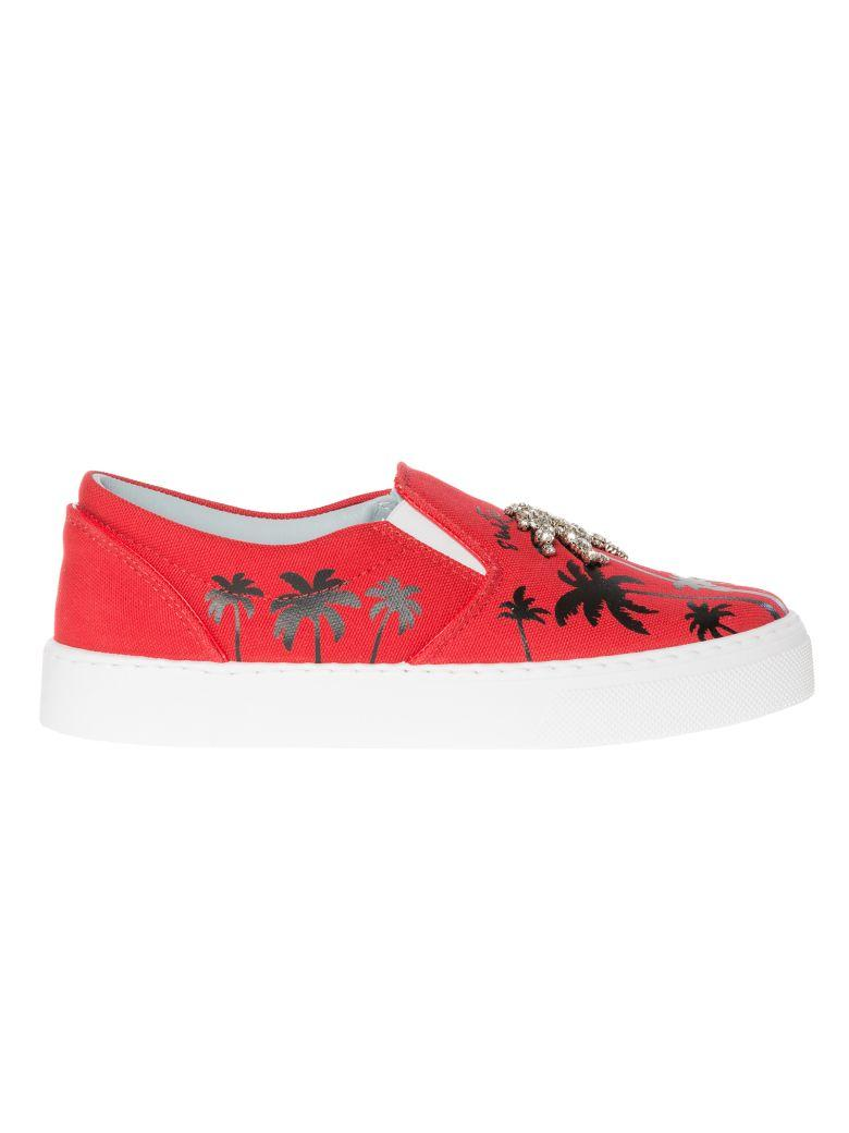 Chiara Ferragni Suite Slip On Sneakers In Redblack