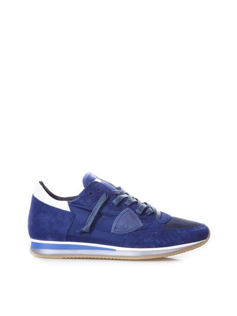 Philippe Model Tropez Mondial Blu Sneakers In Suede In Blue