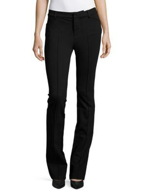 J Brand Lior Mid-rise Bootcut Pants In Black