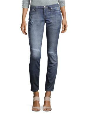 True Religion Cotton-blend Slim-fit Jeans In Blue