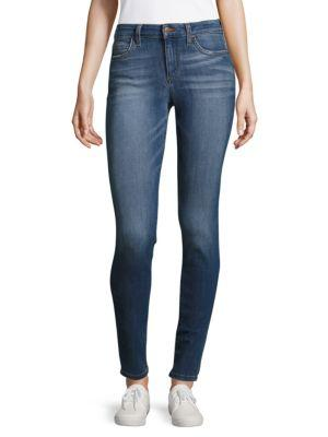 Joe's High-waisted Skinny Jeans In Blue Rinse