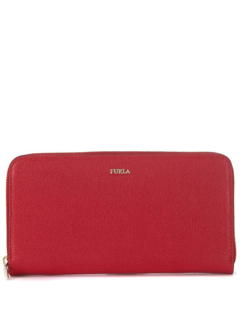 Furla Babylon Red Ruby Leather Wallet In Rosso