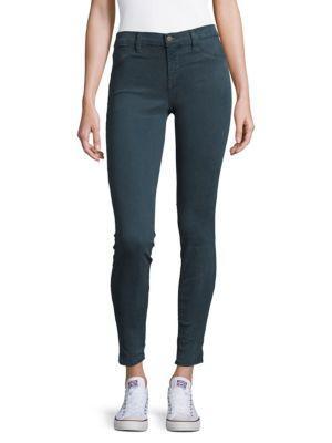 J Brand Solid Super Skinny Jeans In Peri