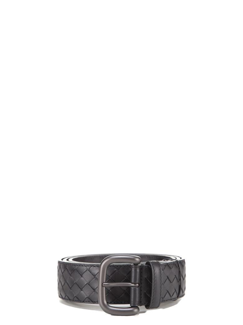 Bottega Veneta Woven Belt In Black