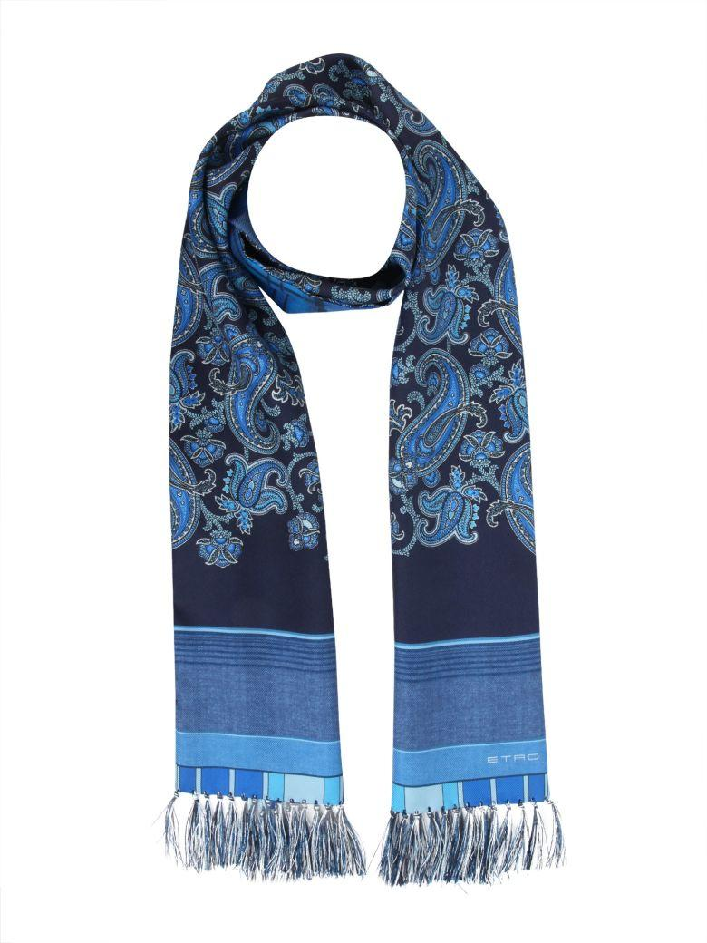 Etro Double Print Scarf In Blu