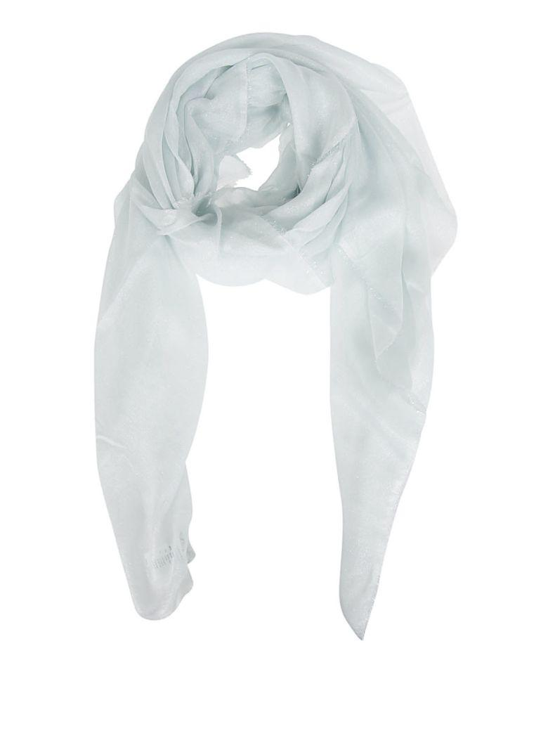 Faliero Sarti Lux Knitted Long Scarf In Acqua
