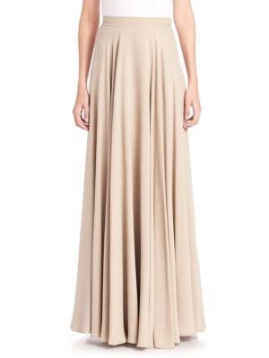 Ralph Lauren Darlene Silk Maxi Skirt In Mineral