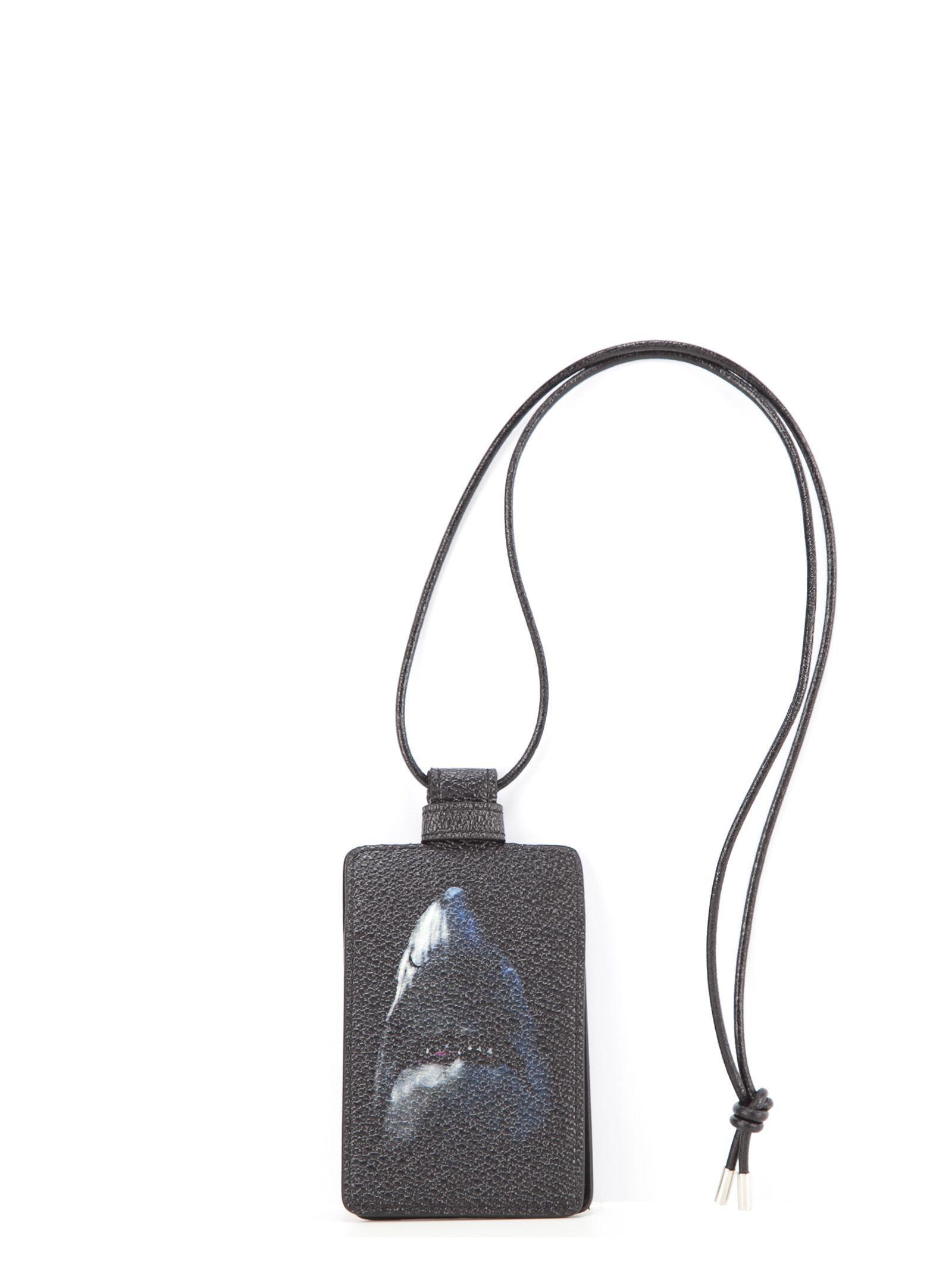 Givenchy Shark Card Holder In Black