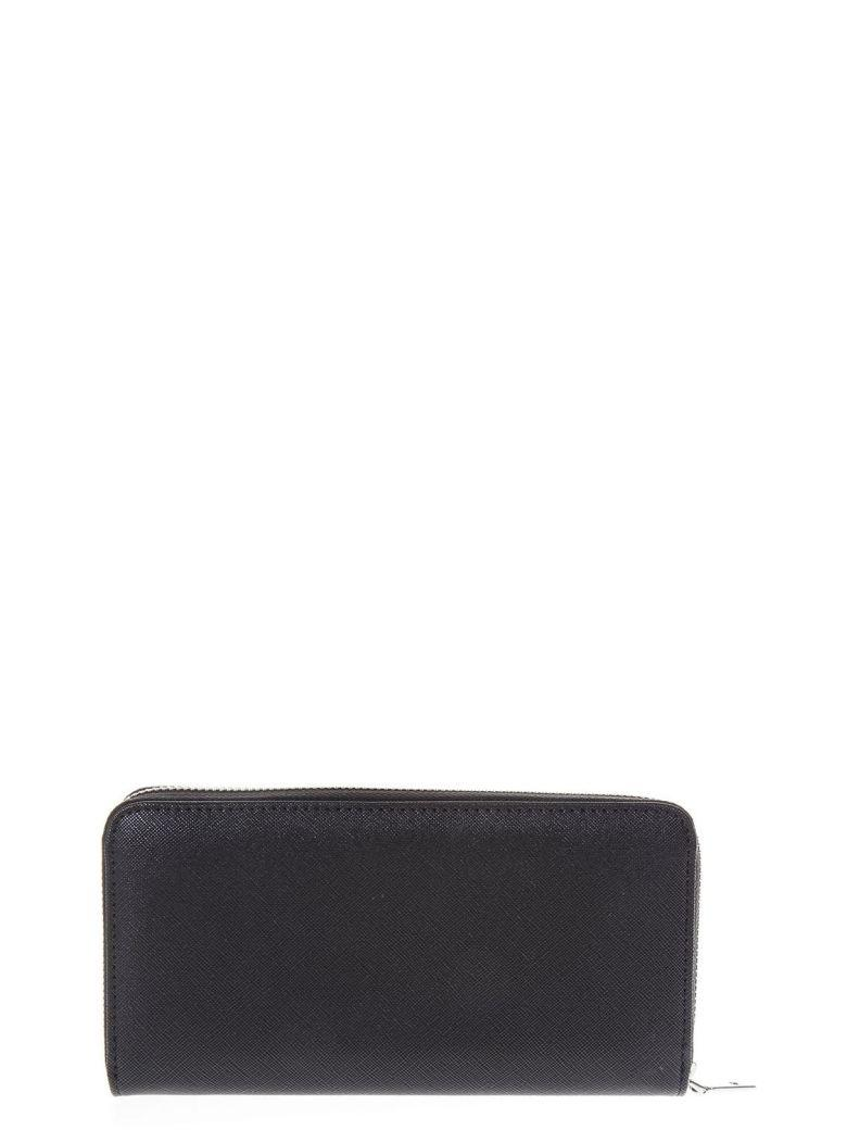 Love Moschino Black Eco Leather Wallet With Studs Details