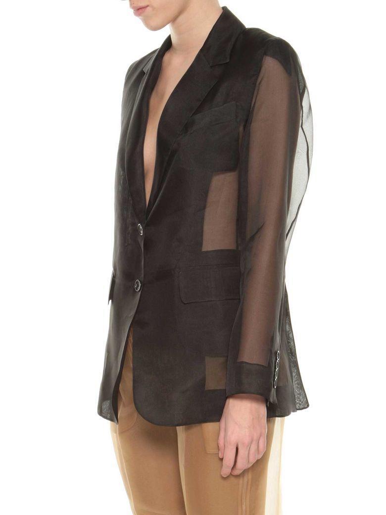 Max Mara Organza Blazer In Black