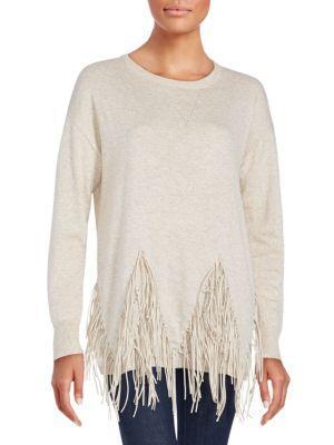 Zero Degrees Celsius Solid Wool Blend Sweater In Beige