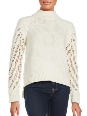 French Connection Kora Wool-blend Sweater In Winter White