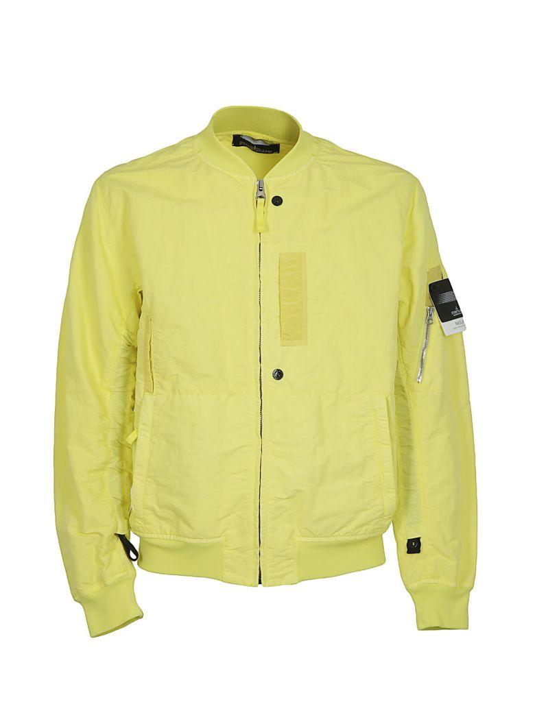 Stone Island Shadow Project Zipped Bomber In Limone